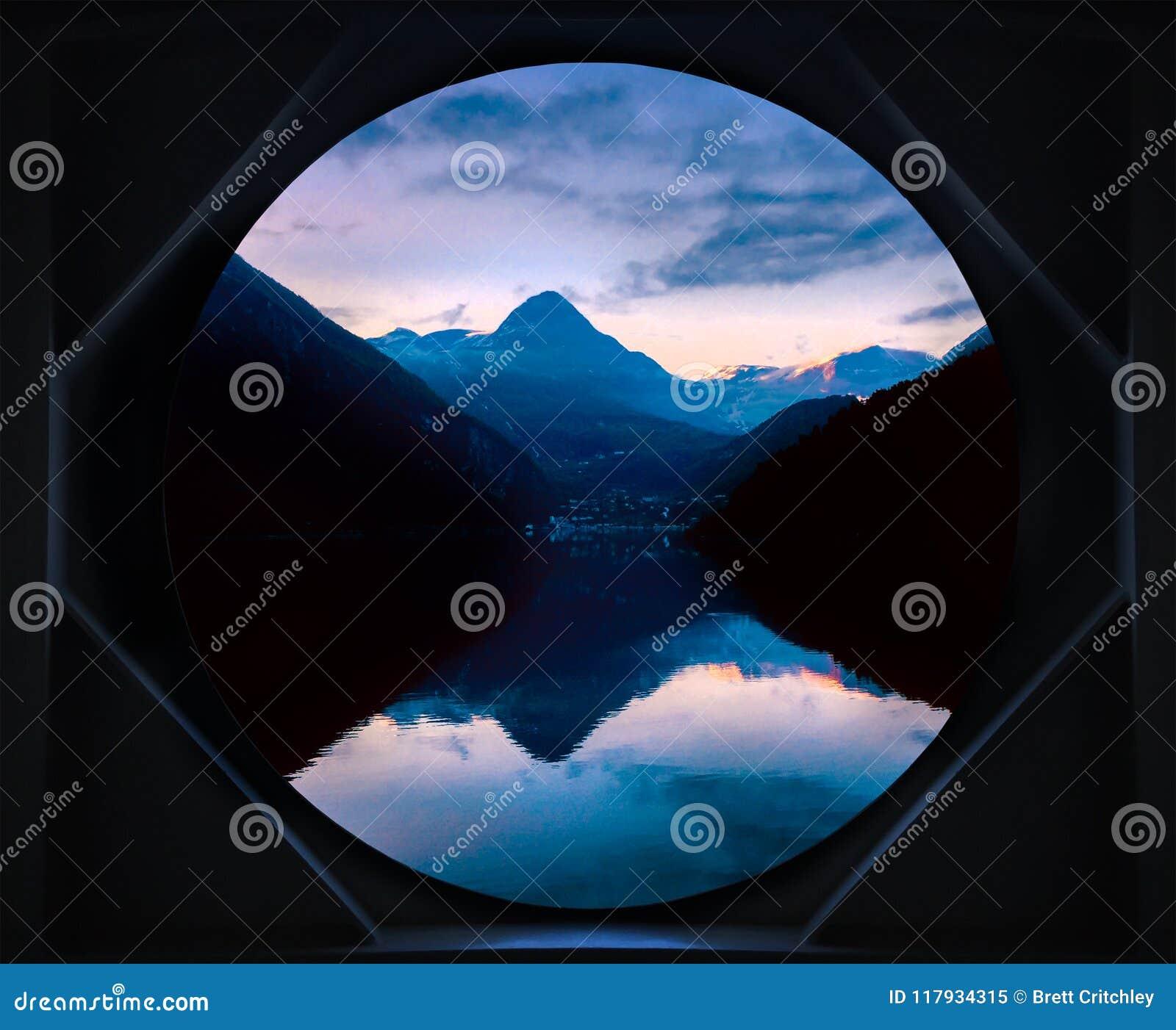 Norwegian Fjord sunrise Norway