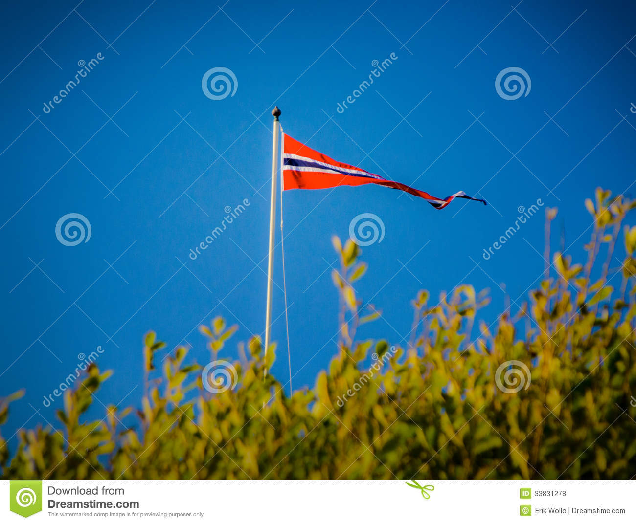the norwegian flag royalty free stock photos image 33831278
