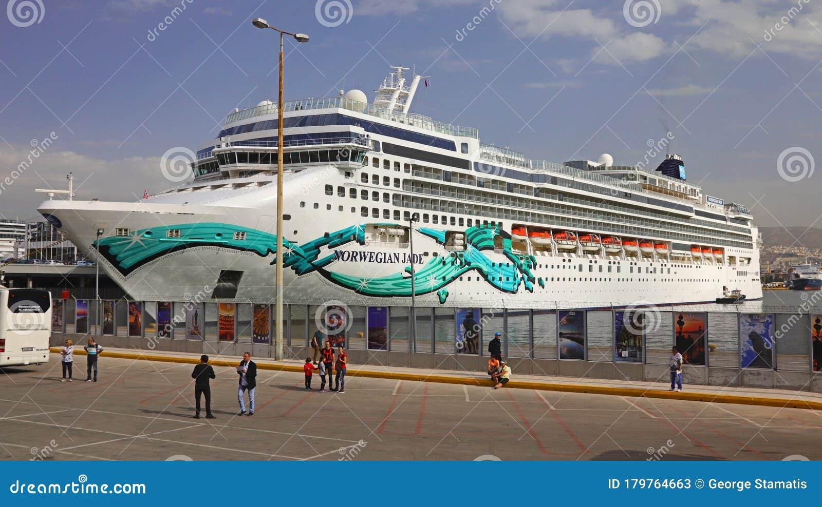 Norwegian Jade Cruise Ship Greece Editorial Stock Photo Image Of Line Port 179764663