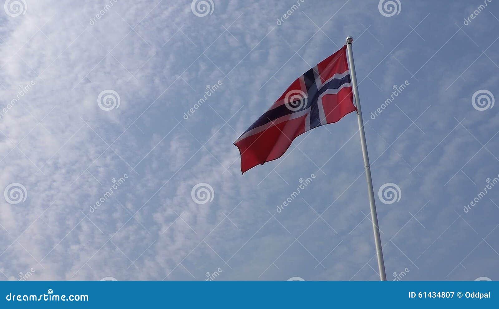 norwegian norway flag stock video video 61434807