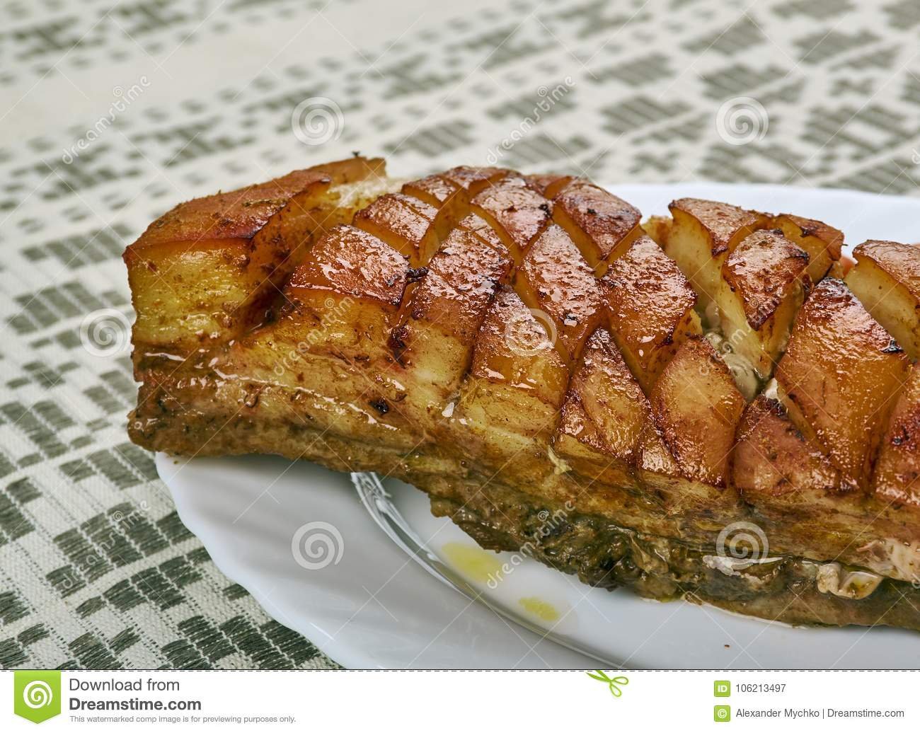 Norwegian Ribbe stock image. Image of ribbe, grill, meat - 106213497