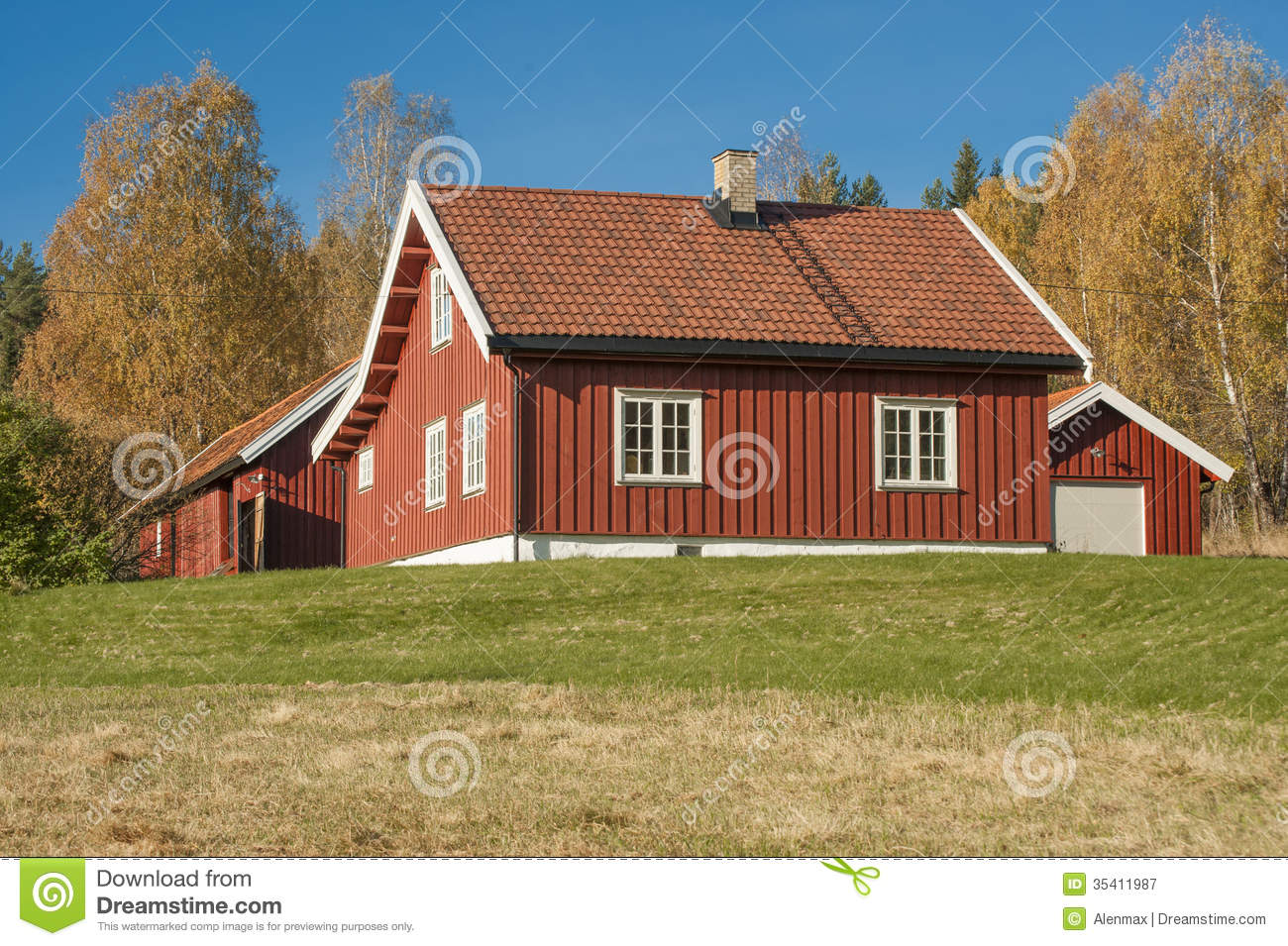 Norwegian wooden house in stock image image of bright for Norway wooden houses