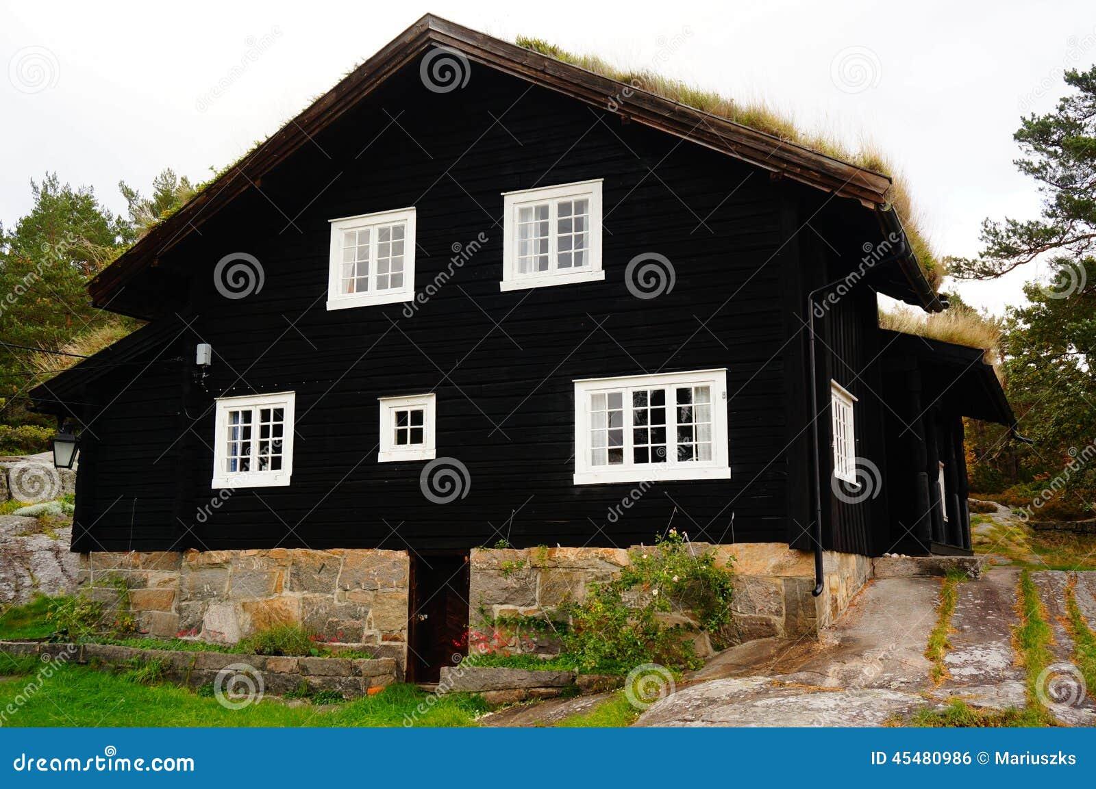 norwegische h user norwegen stockfoto bild 45480986. Black Bedroom Furniture Sets. Home Design Ideas