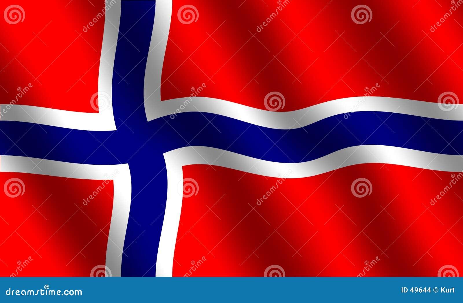 Norwegische Markierungsfahne