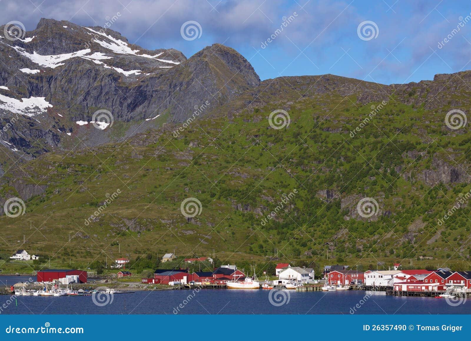Norwegisches Fischerdorf