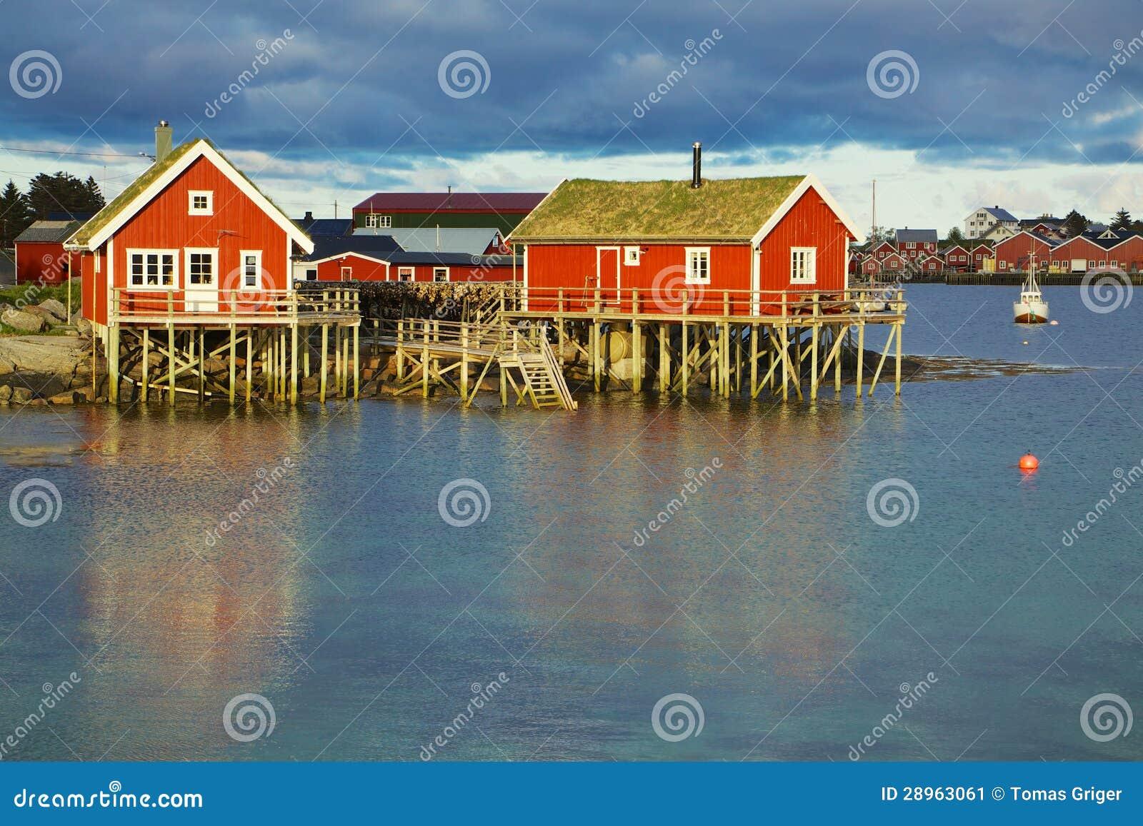 Norweskie połów budy