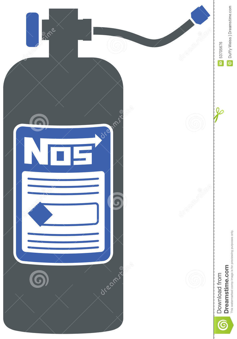 NOS Bottle For Racing Stock Vector - Image: 53705676