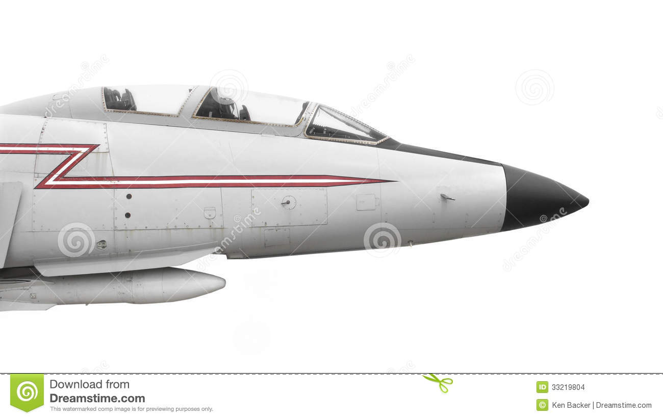 Nose Of Old Fighter Jet Isolated Stock Images Image
