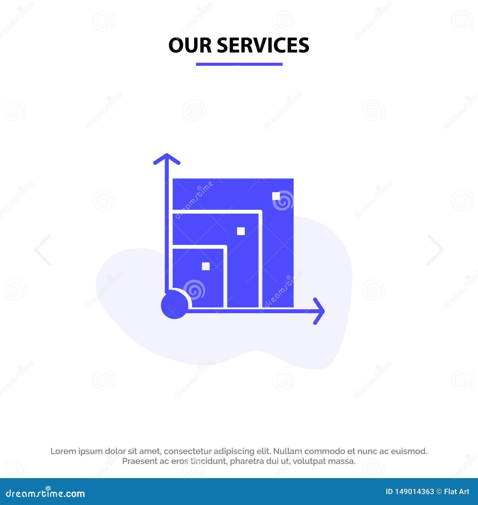 Nossos serviços evolutivos, sistema, sistema evolutivo, molde contínuo do cartão da Web do ícone do Glyph da ciência