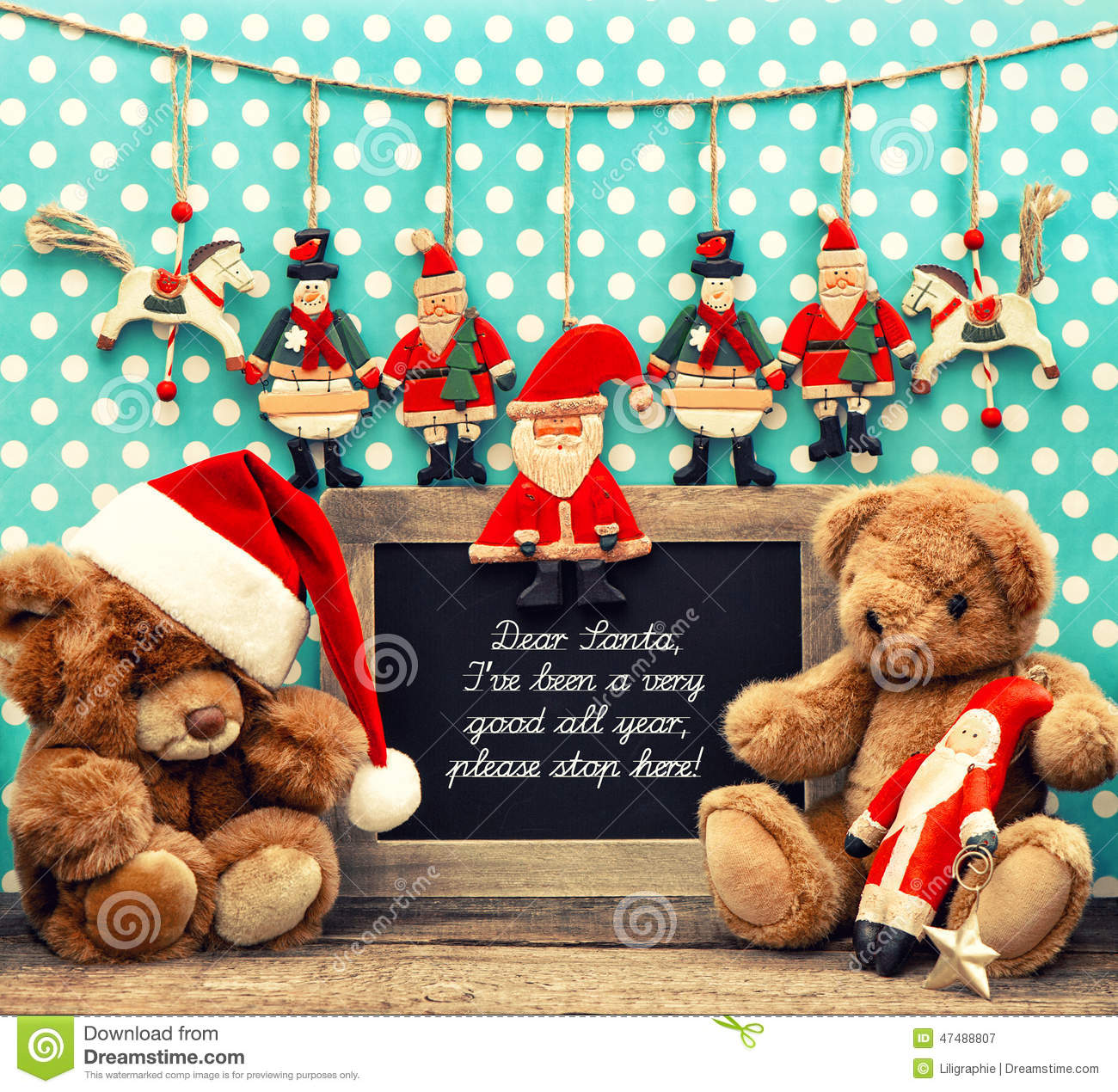 Nostalgic home christmas decoration with antique toys for A style text decoration