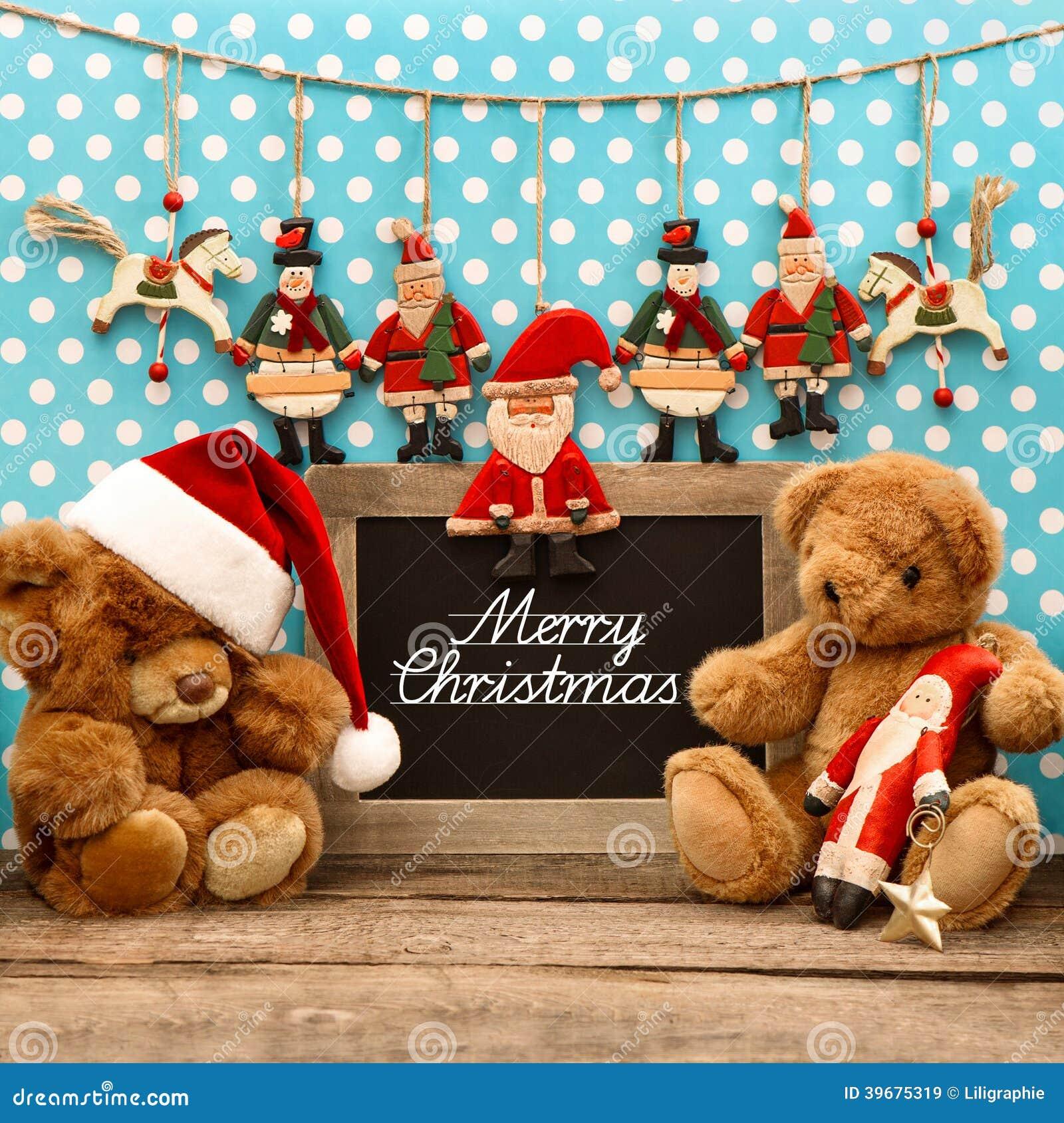 Nostalgic Christmas Decorations: Nostalgic Home Christmas Decoration With Antique Toys