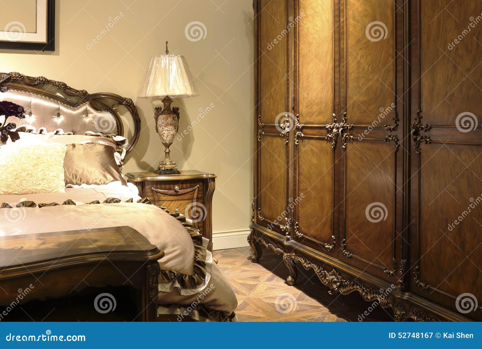 Nostalgische slaapkamer stock foto   afbeelding: 52748167