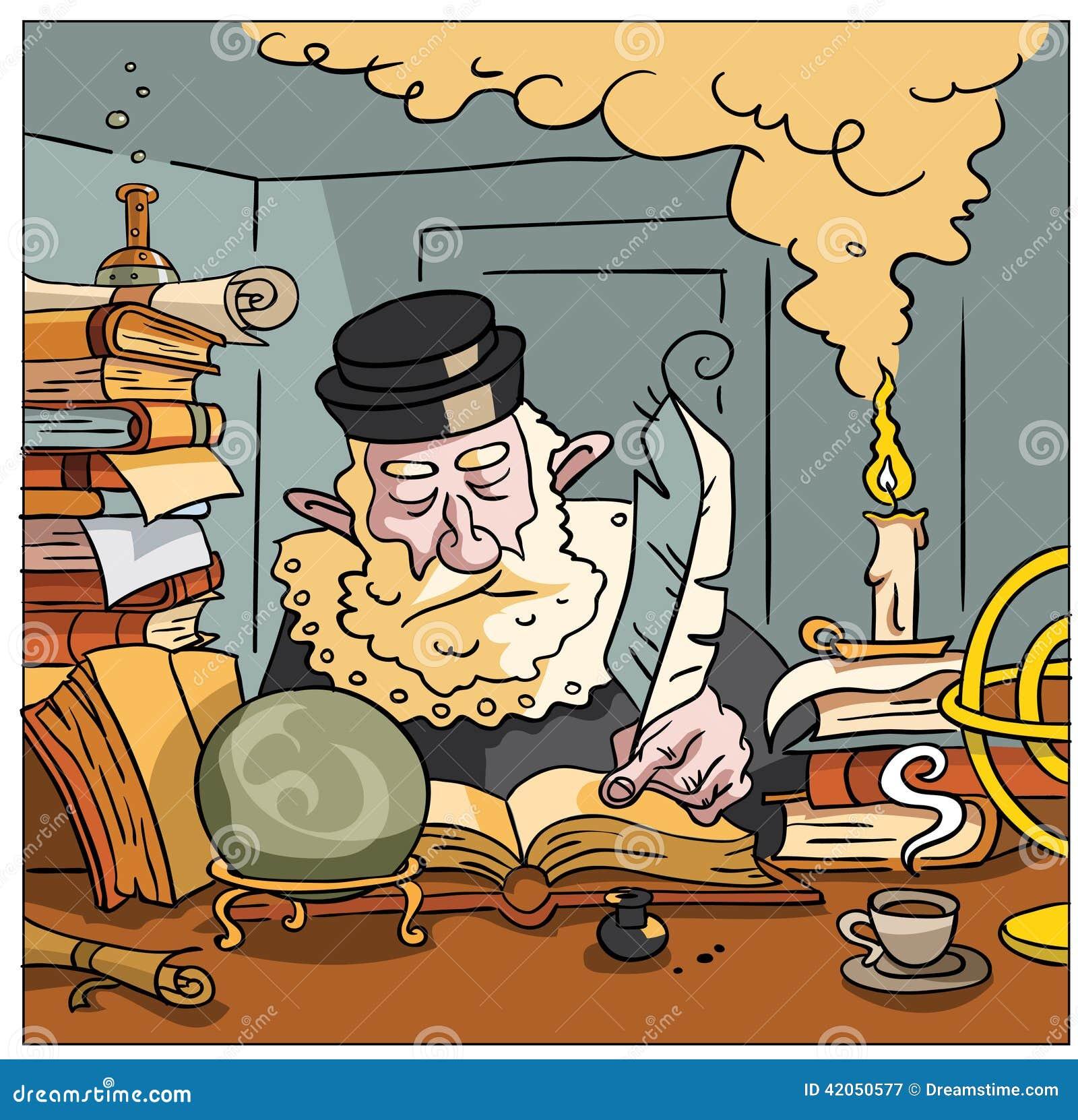 Nostradamus die de toekomst schrijven