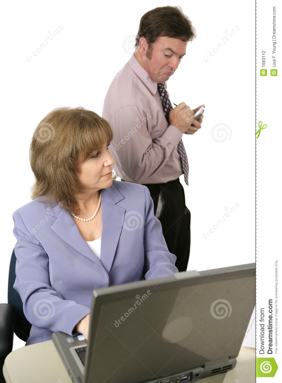 Nosy Coworker Stock Photo Image Of Internet Male