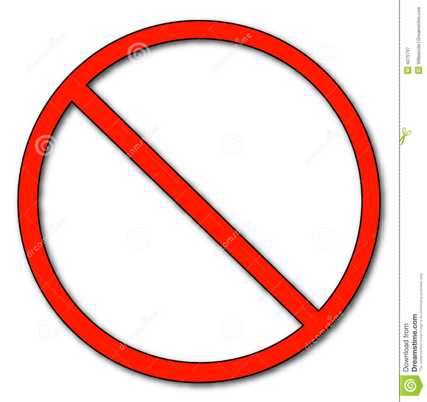 Not Allowed Symbol Royalty Free Stock Photography - Image: 4275797