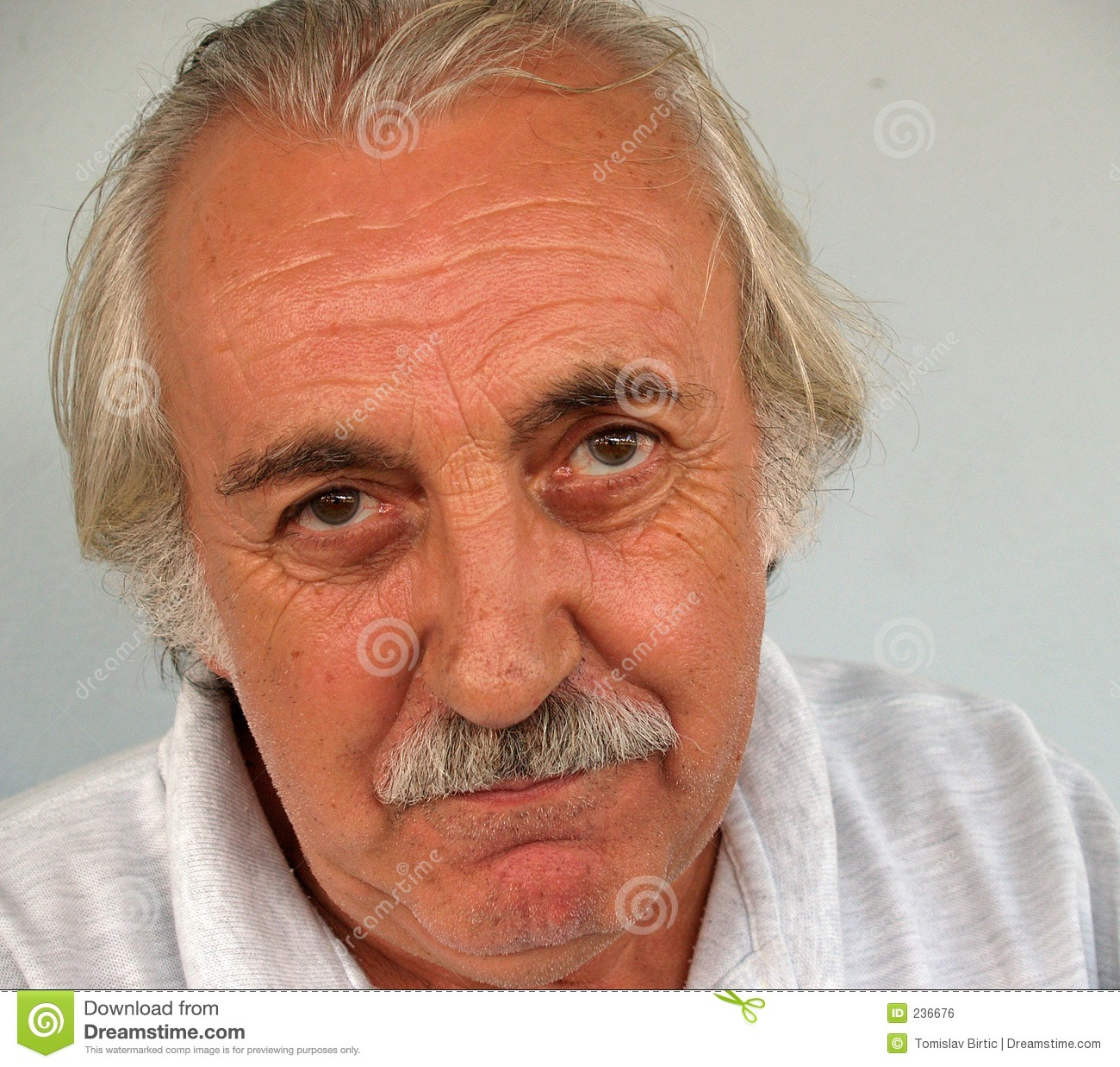 Convinced: Not Convinced Old Man Royalty Free Stock Image