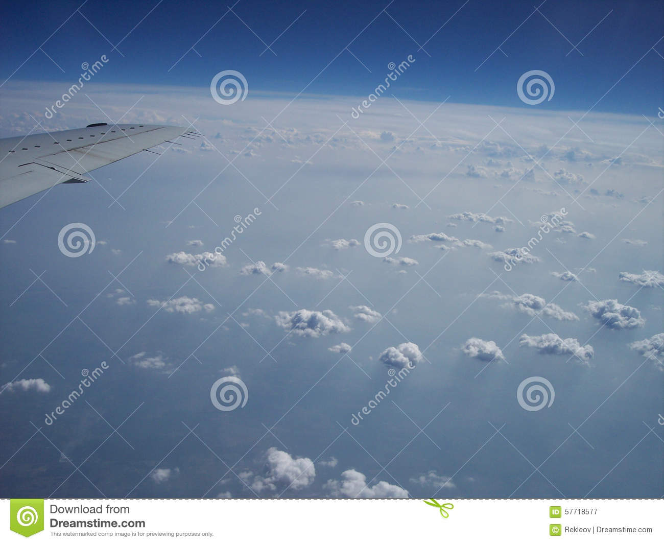 Not Quite The Curvature Of The Earth Stock Image - Image of white