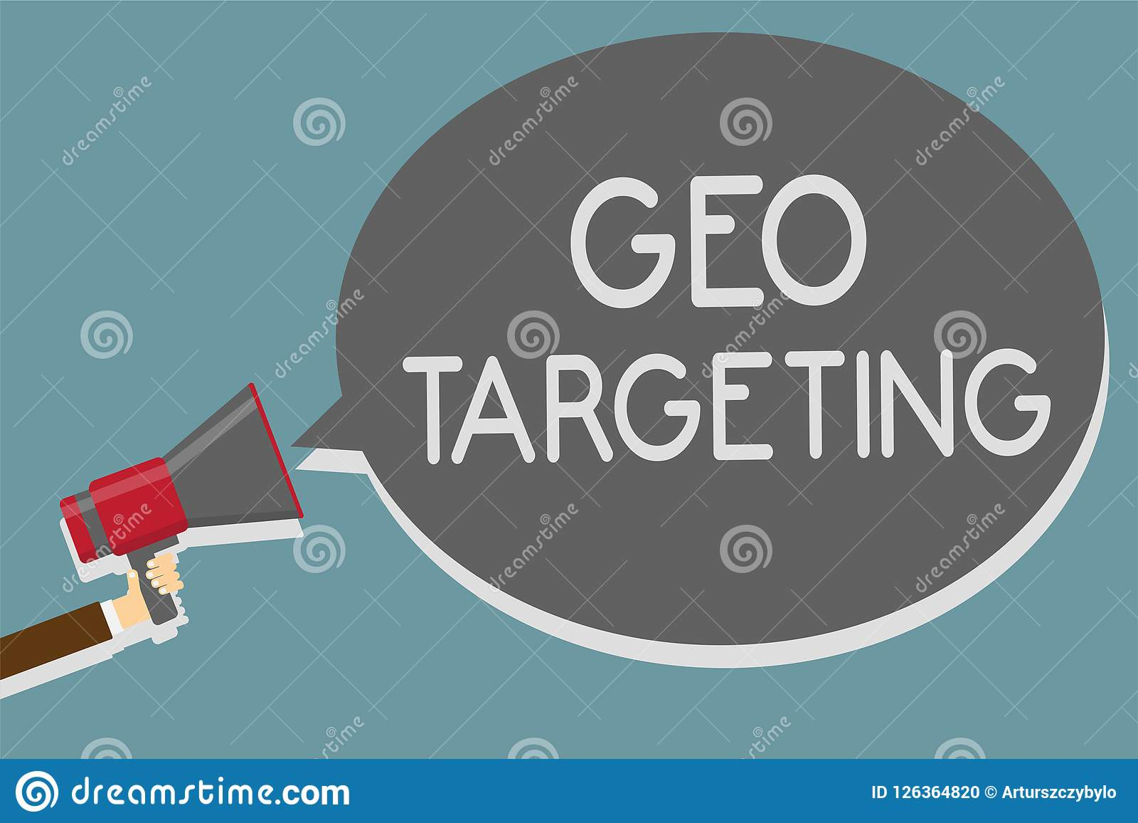 Nota da escrita que mostra a escolha de objetivos de Geo A foto do negócio que apresenta anúncios de Digitas vê a terra arrendada