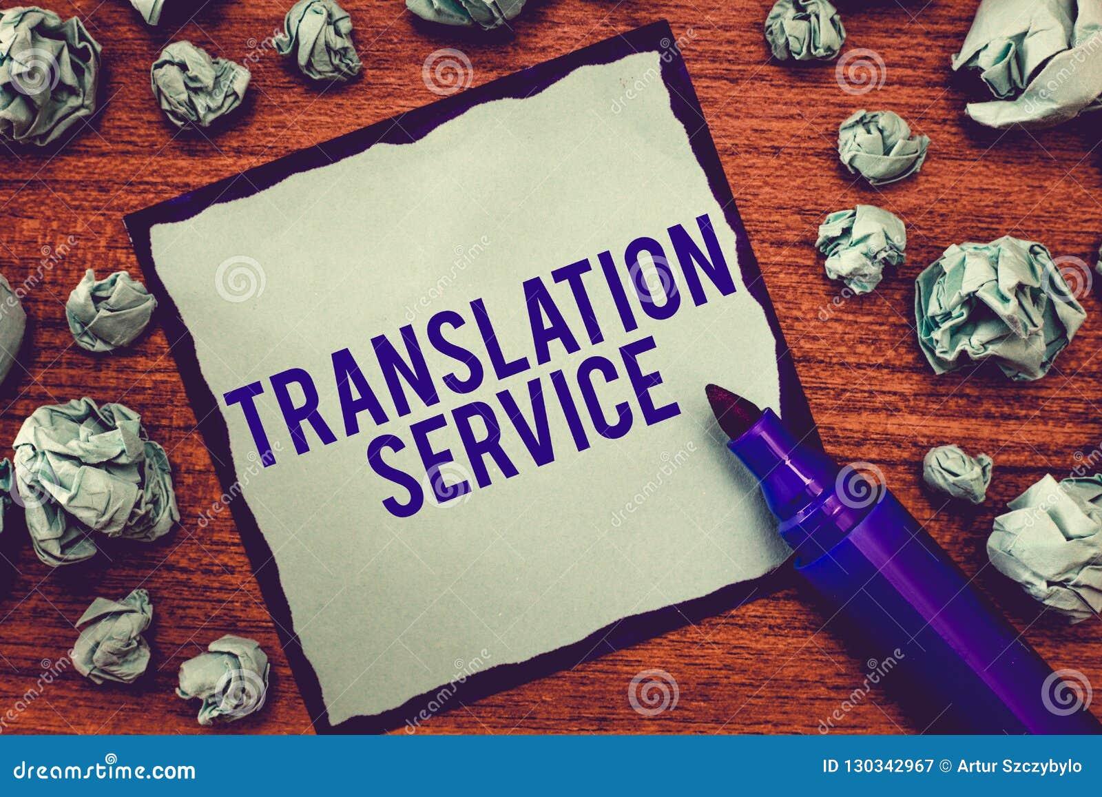 Nota da escrita que mostra o serviço de tradução Foto do negócio que apresenta a língua de alvo equivalente da mãe