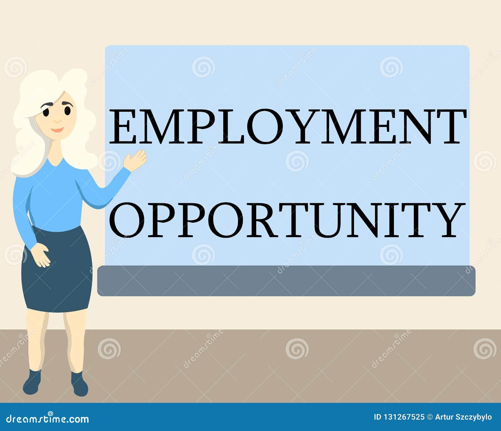 Nota da escrita que mostra a oportunidade de emprego Foto do negócio que não apresenta nenhuma discriminação contra a política do