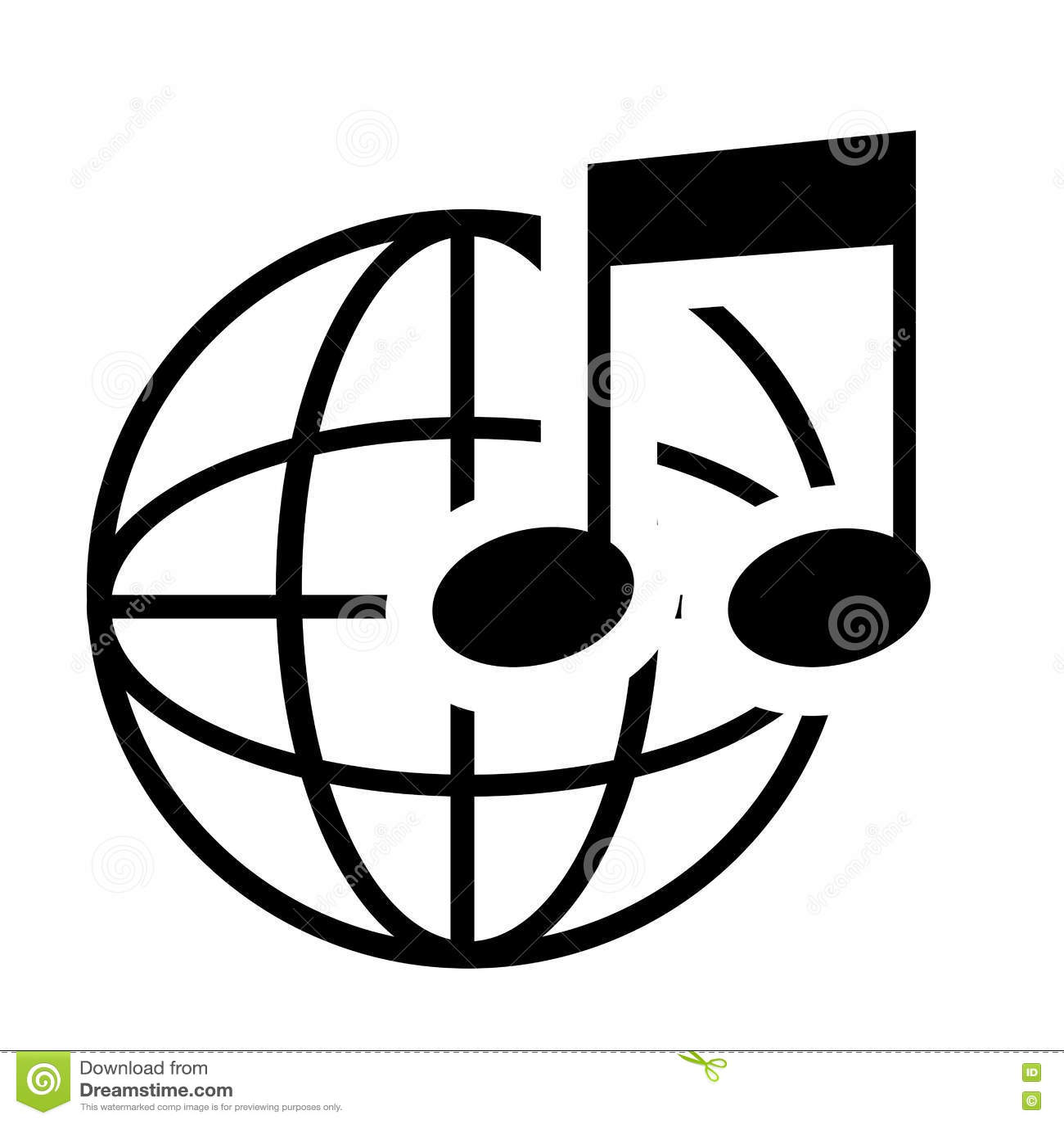 Nota da música em preto e branco