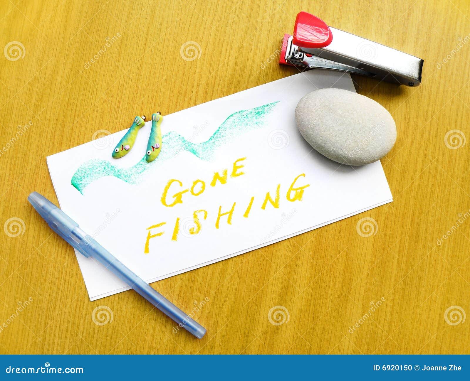 Nota da pesca andata sullo scrittorio