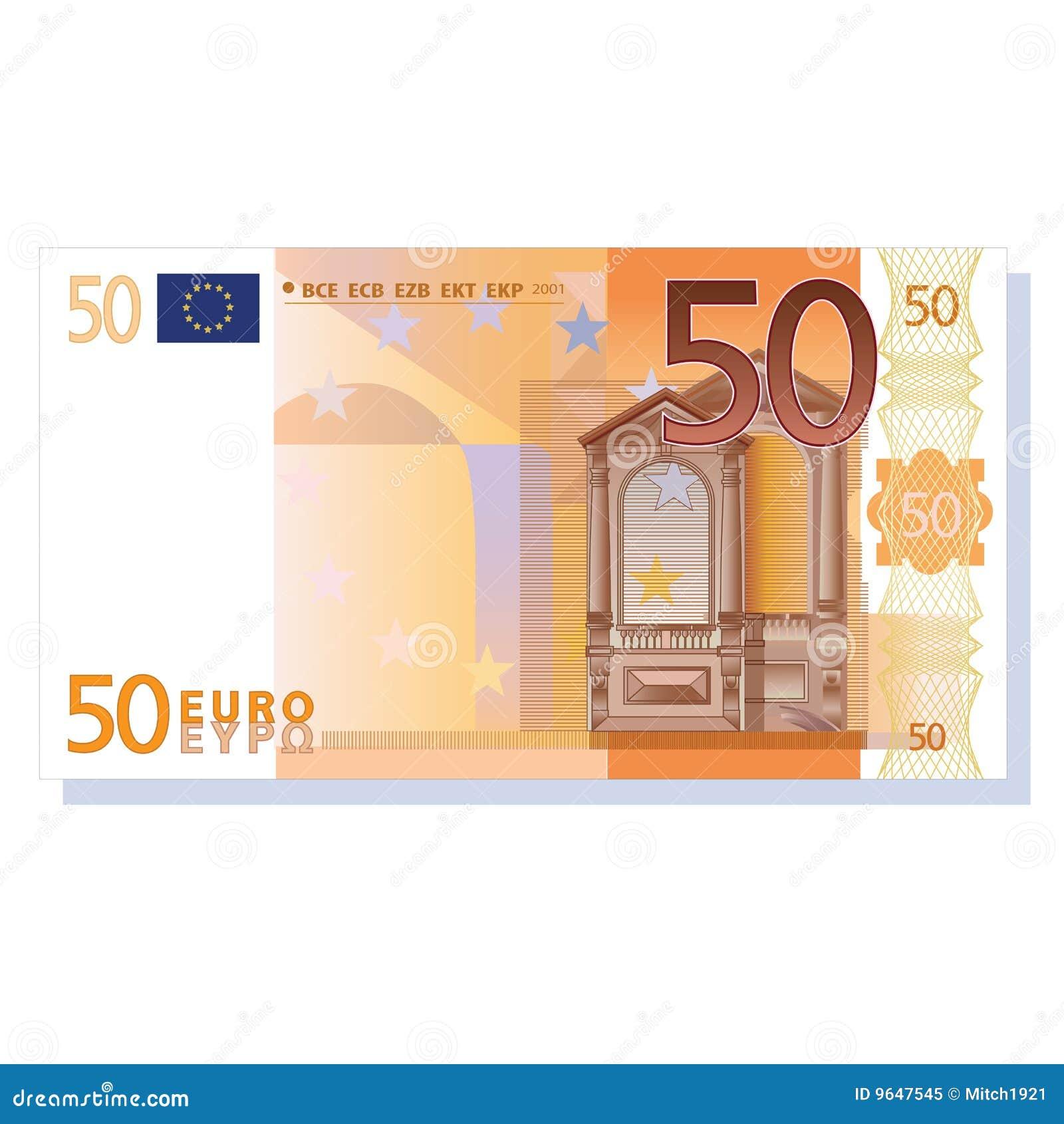 Nota de banco do euro 50