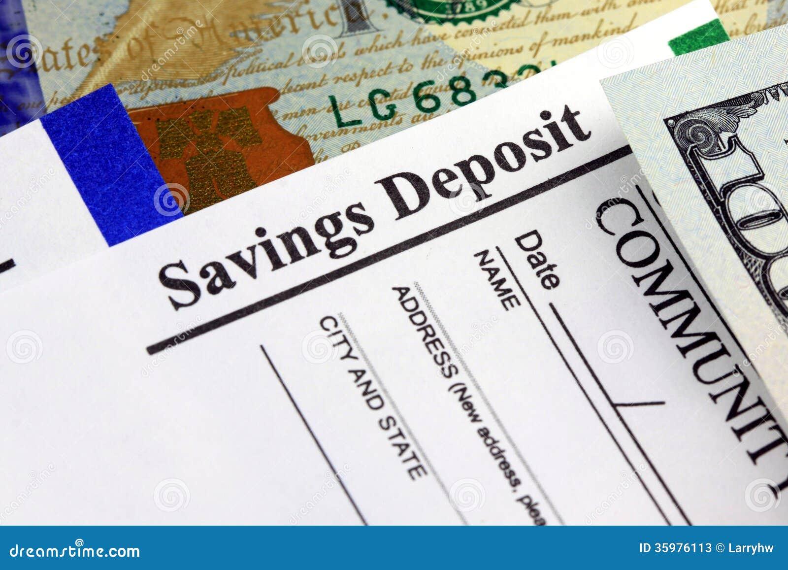 Nota de ingreso de ahorros - concepto de las actividades bancarias