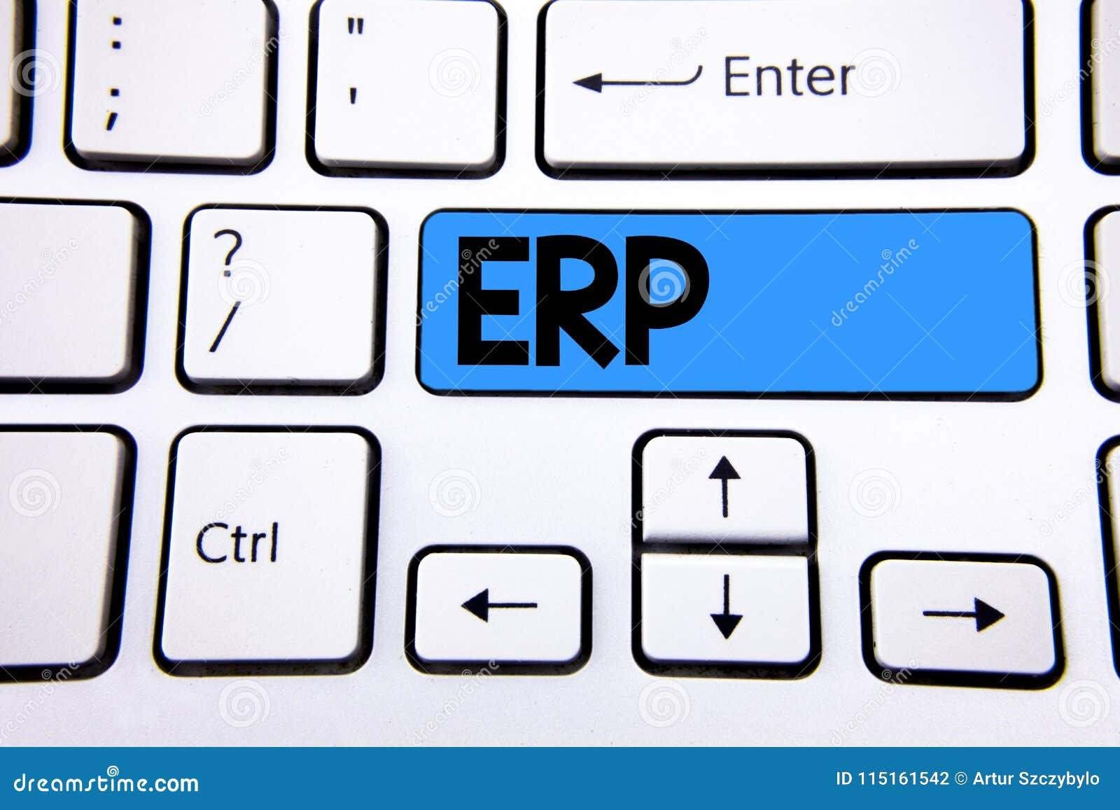 Nota de la escritura que muestra el ERP El planeamiento de exhibición del recurso de la empresa de la foto del negocio con automa