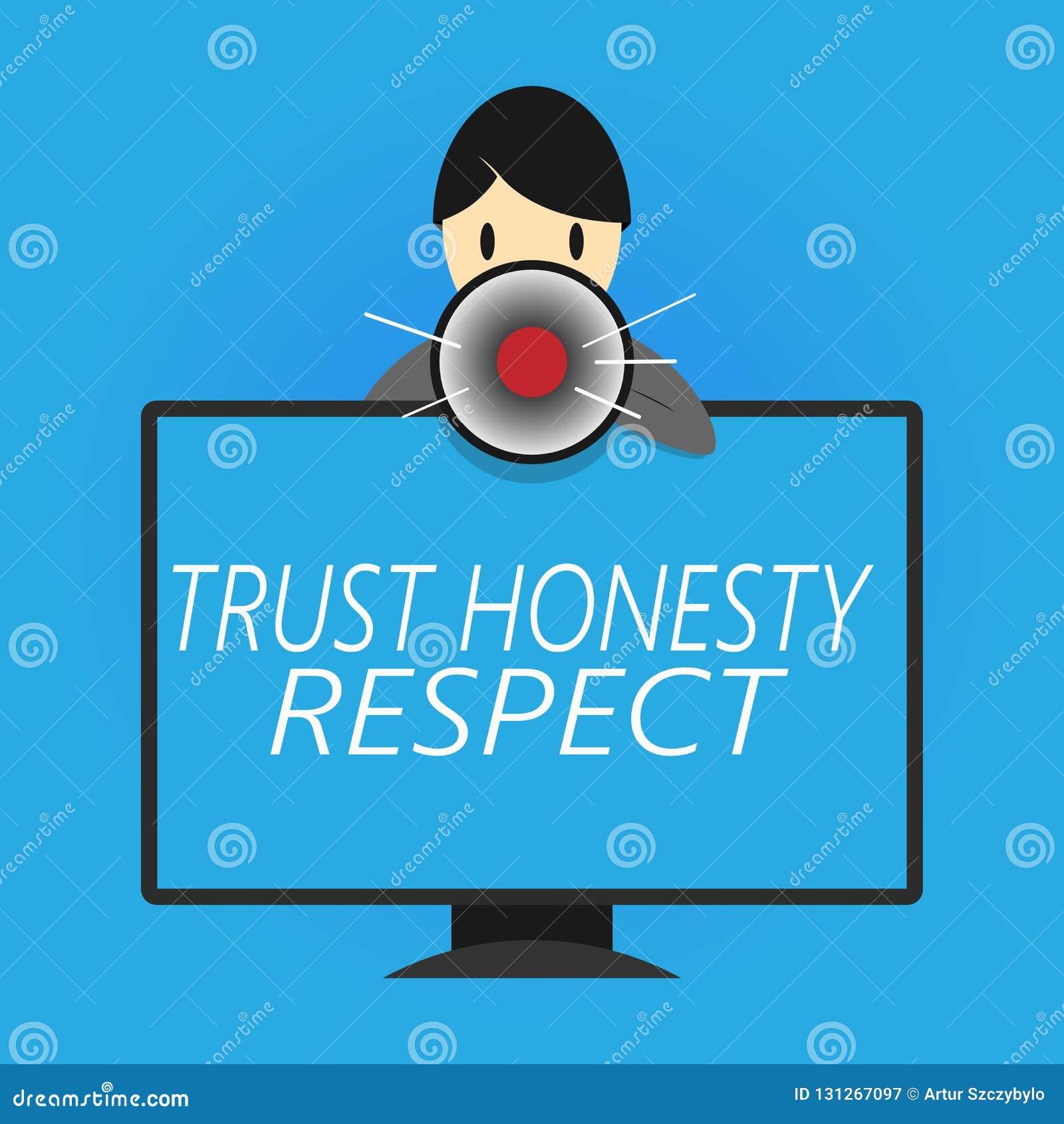 Nota de la escritura que muestra respecto de la honradez de la confianza Foto del negocio que muestra rasgos respetables una face