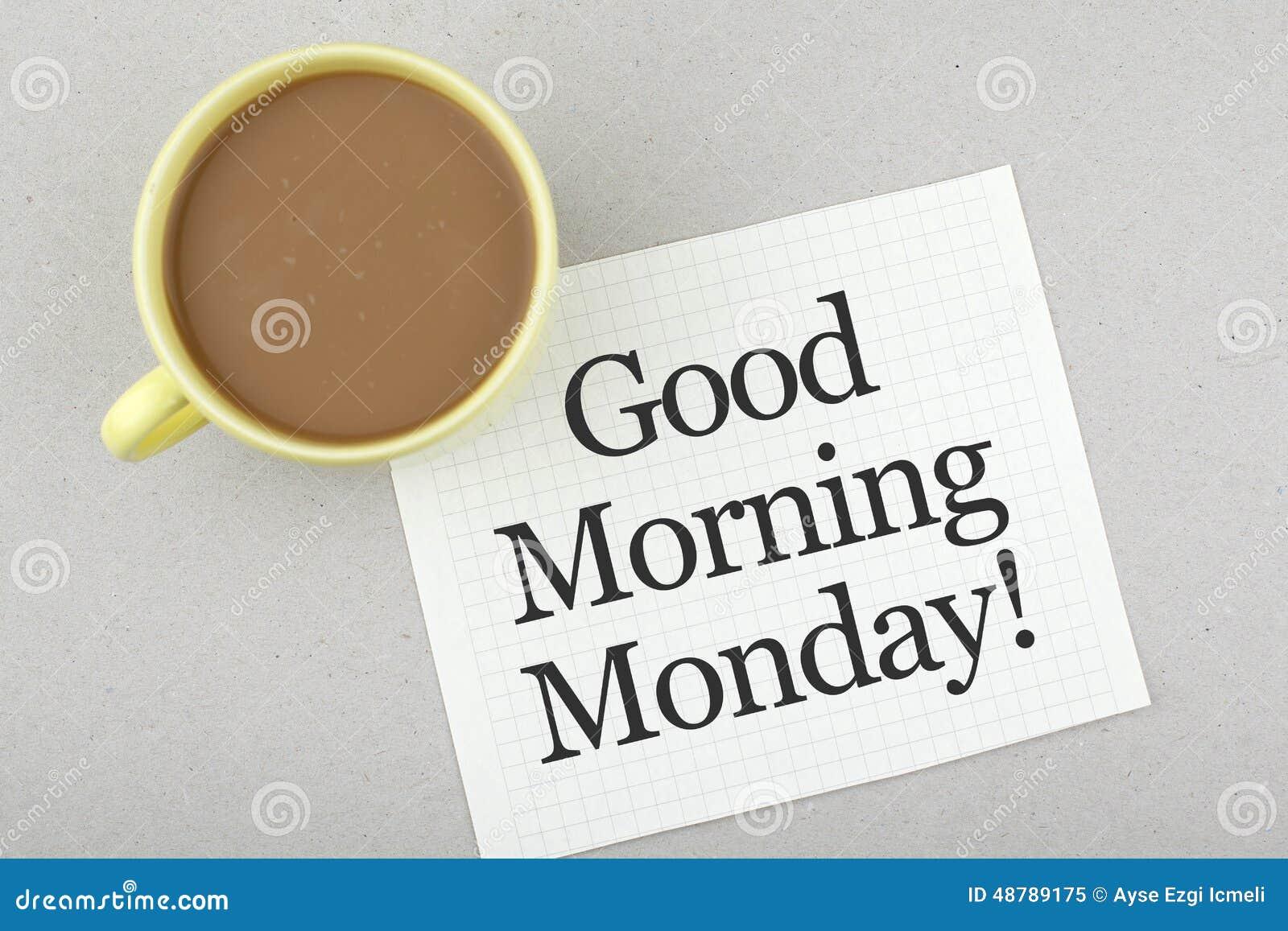 Nota de segunda-feira do bom dia