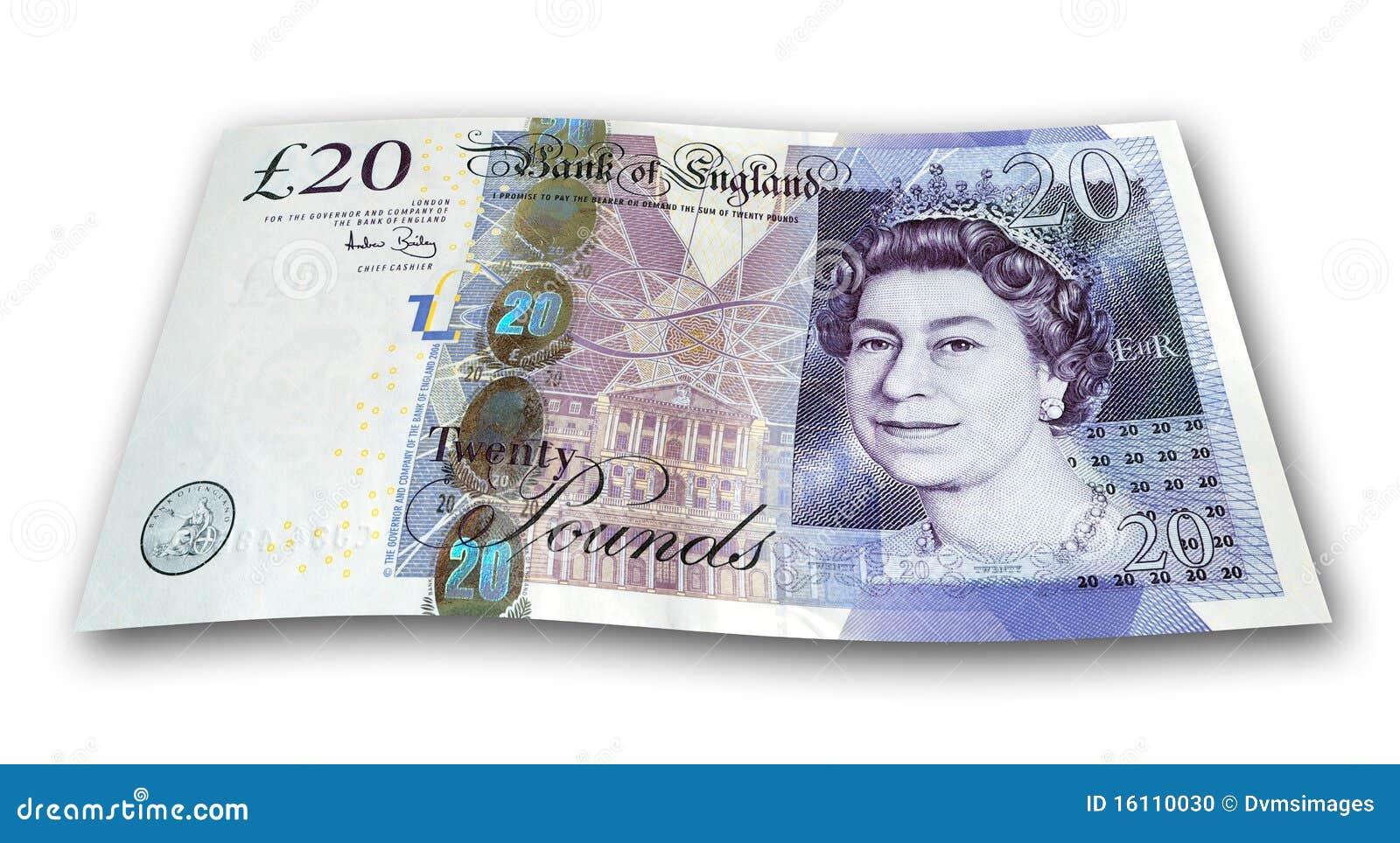 Nota de veinte libras