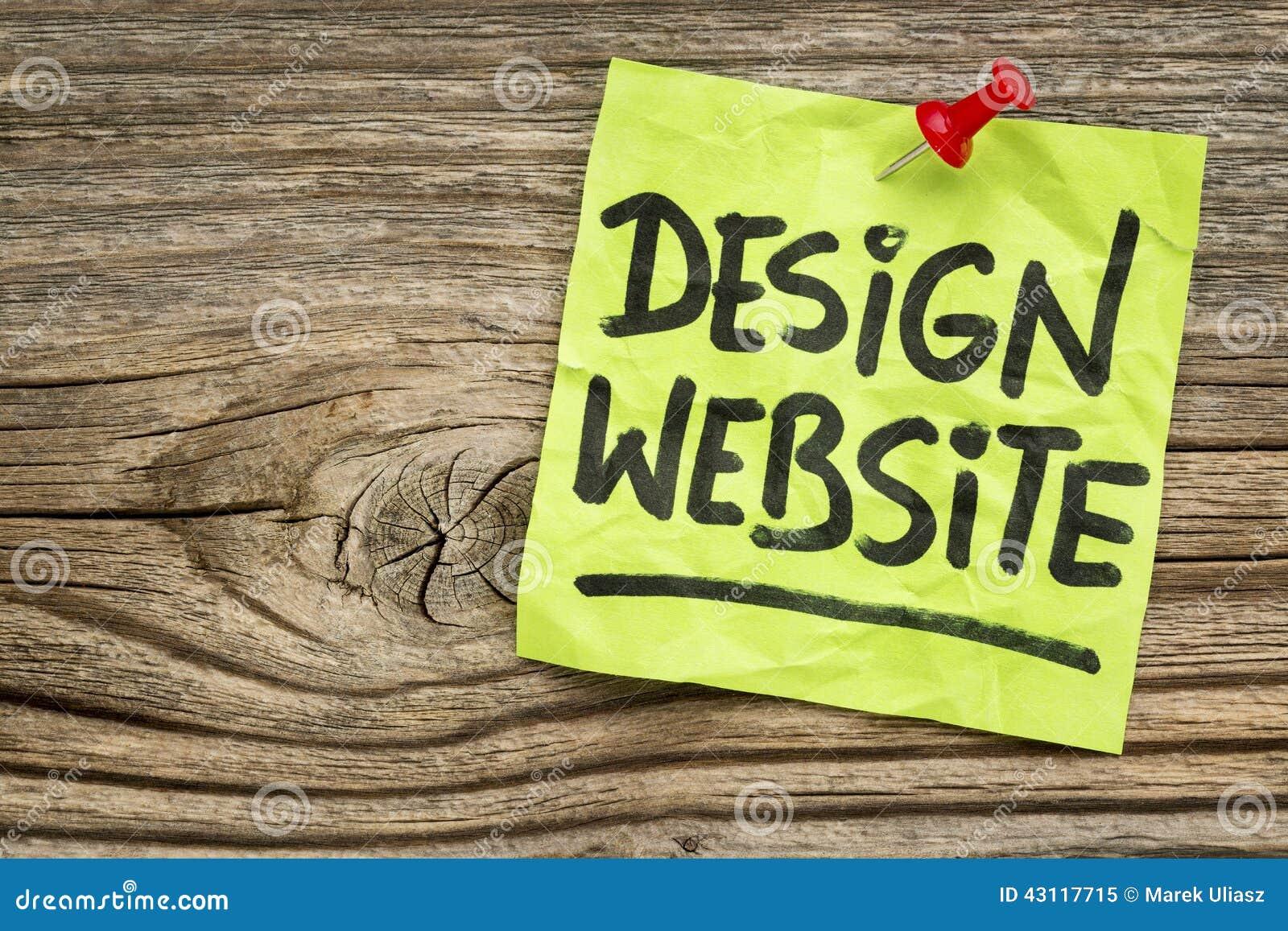 Nota del sito Web di progettazione
