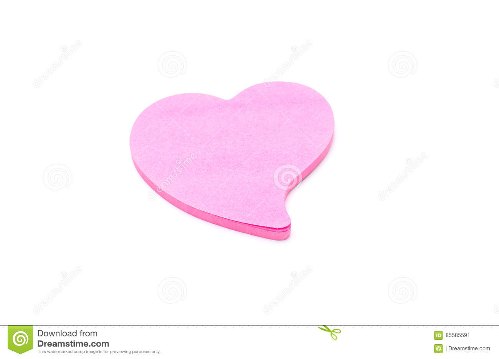 Nota di carta del cuore
