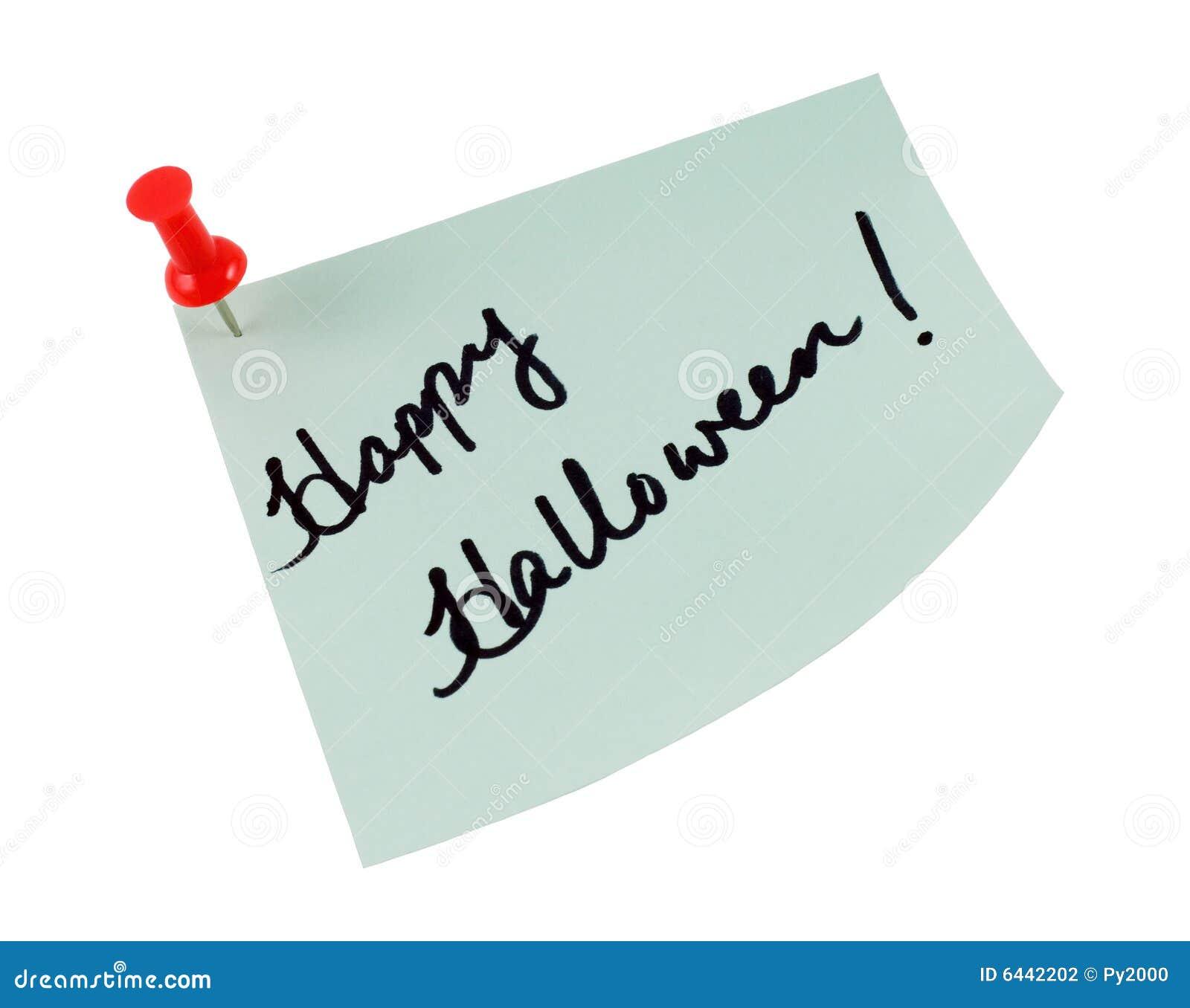 Nota di post-it felice di Halloween