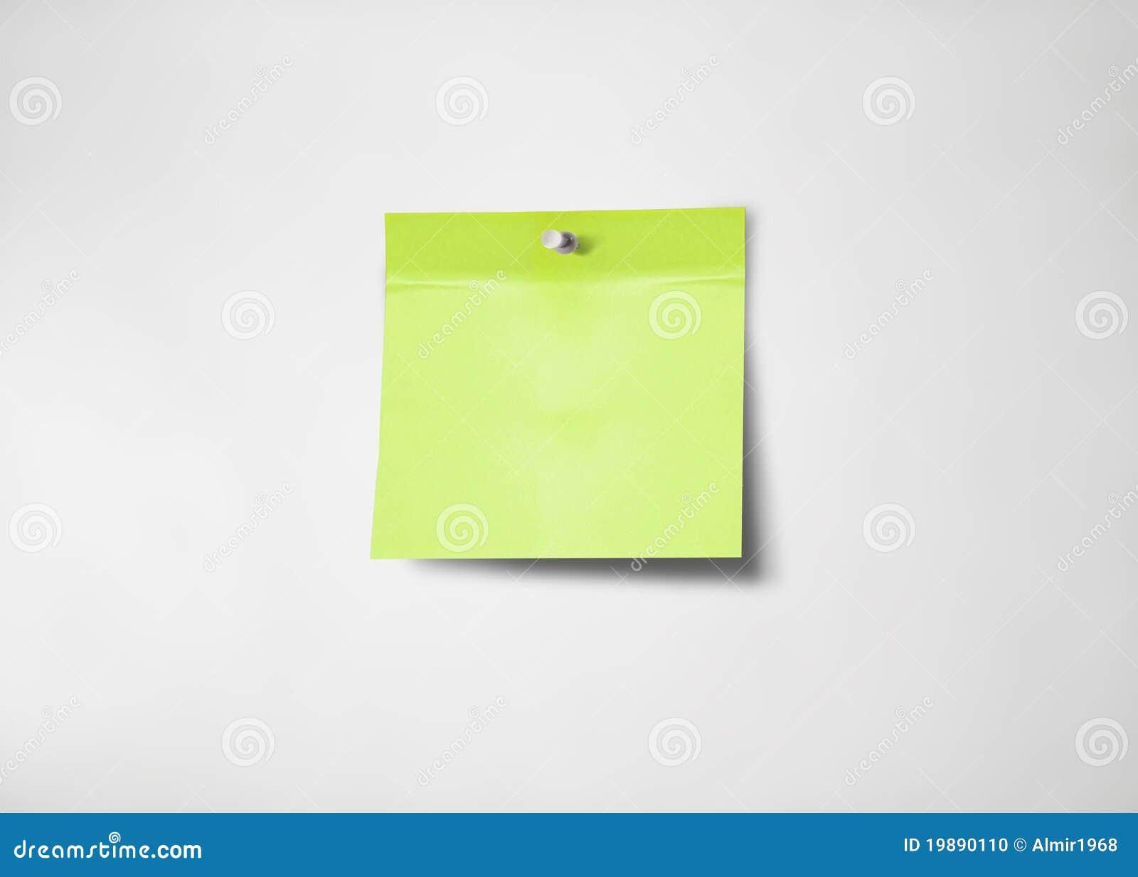 Nota di post-it verde