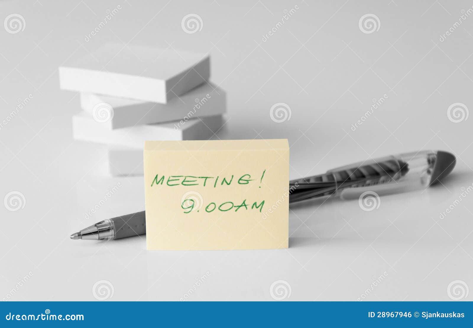 Nota di riunione