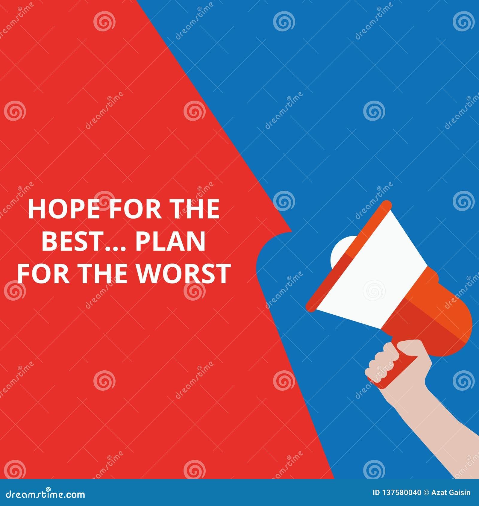 Nota di scrittura che mostra speranza per il meglio