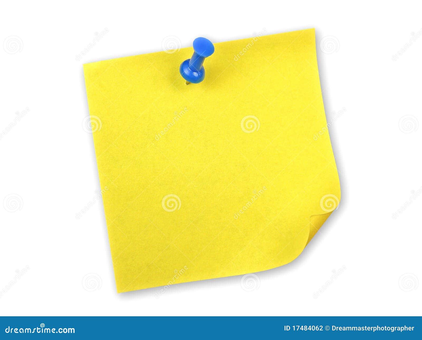 Nota gialla con il perno