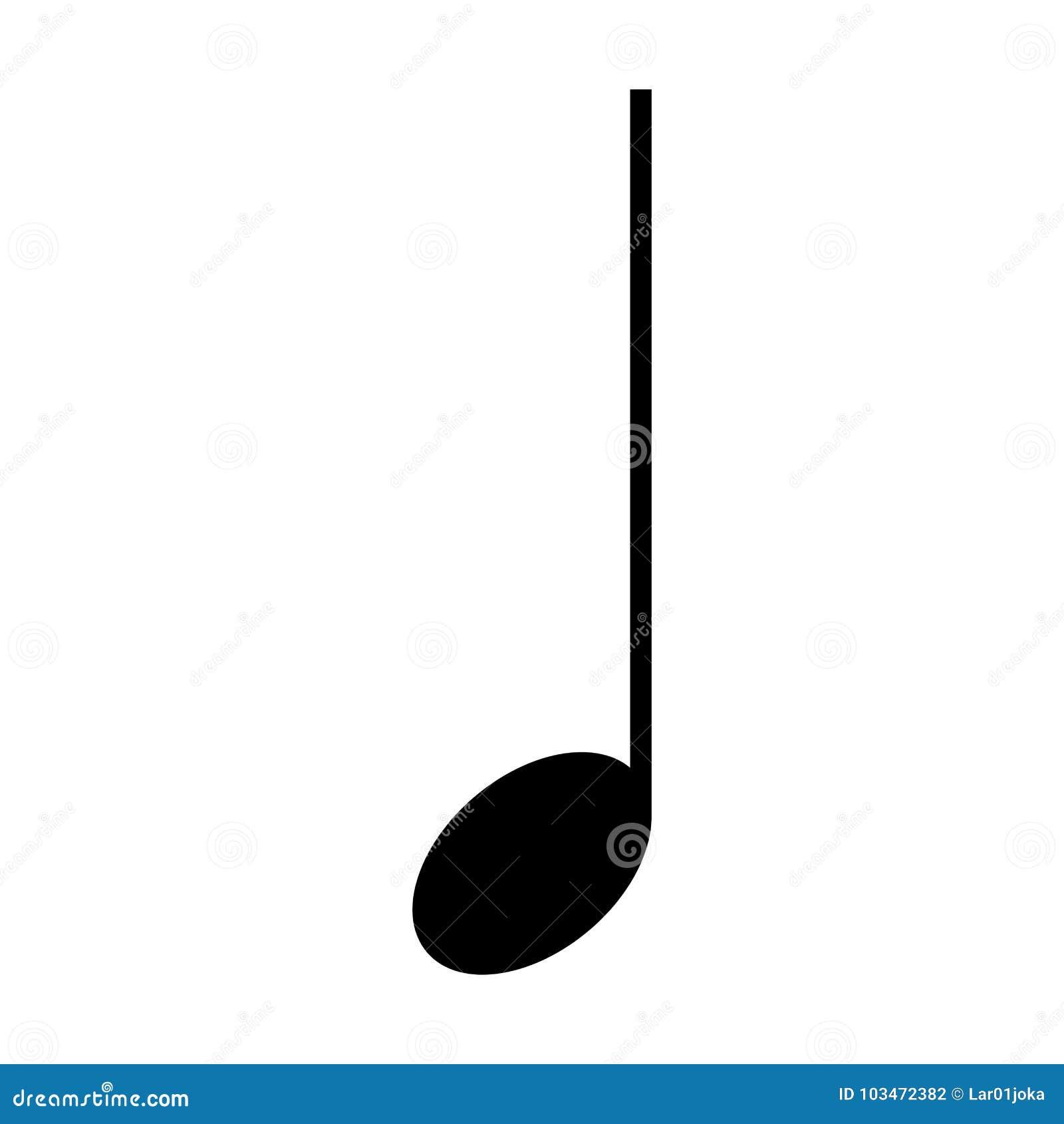 Nota musical aislada ilustración del vector. Ilustración de ...