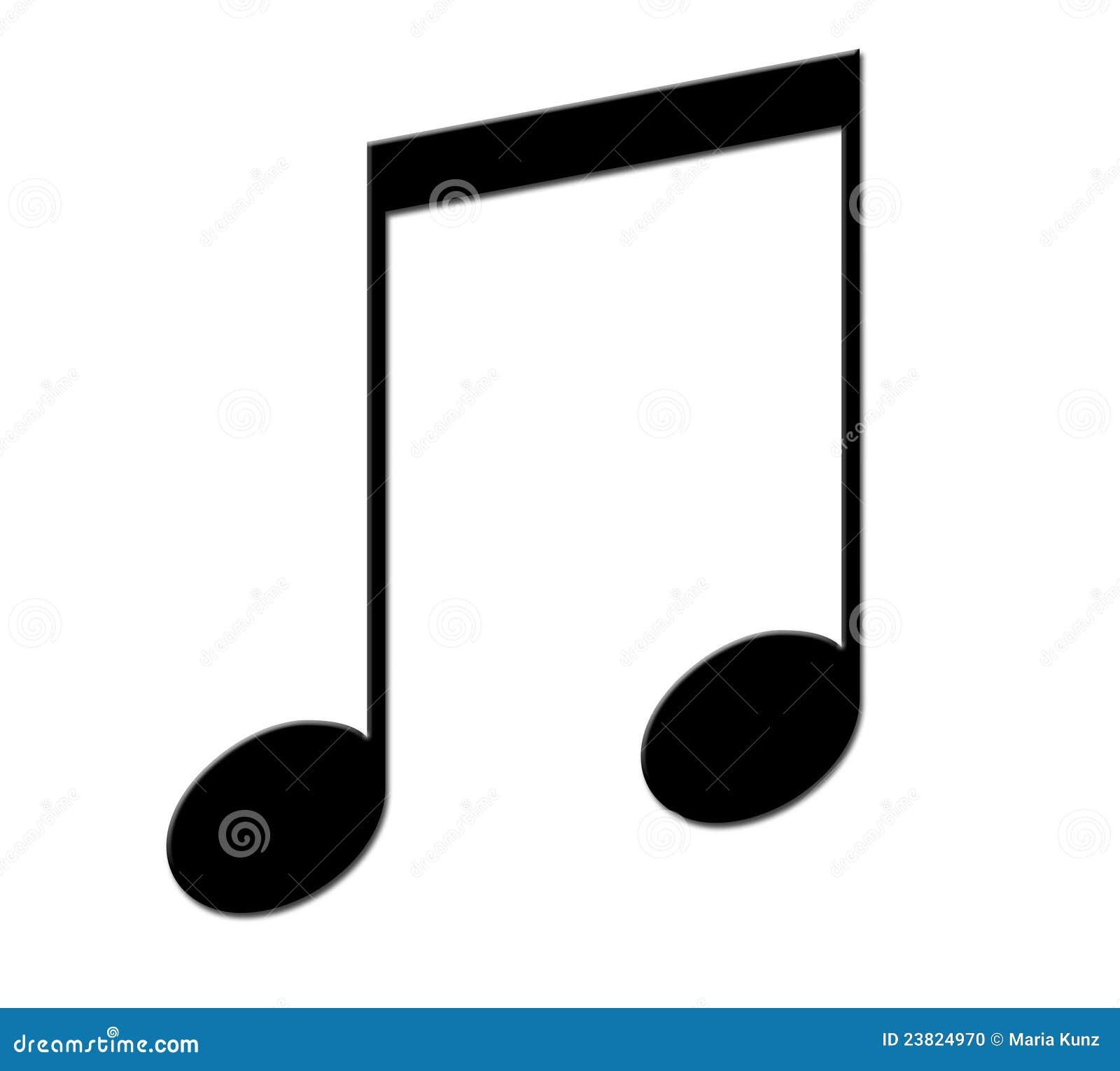 Foto Nota Musical ~ Nota Musical Preta Foto de Stock Imagem 23824970