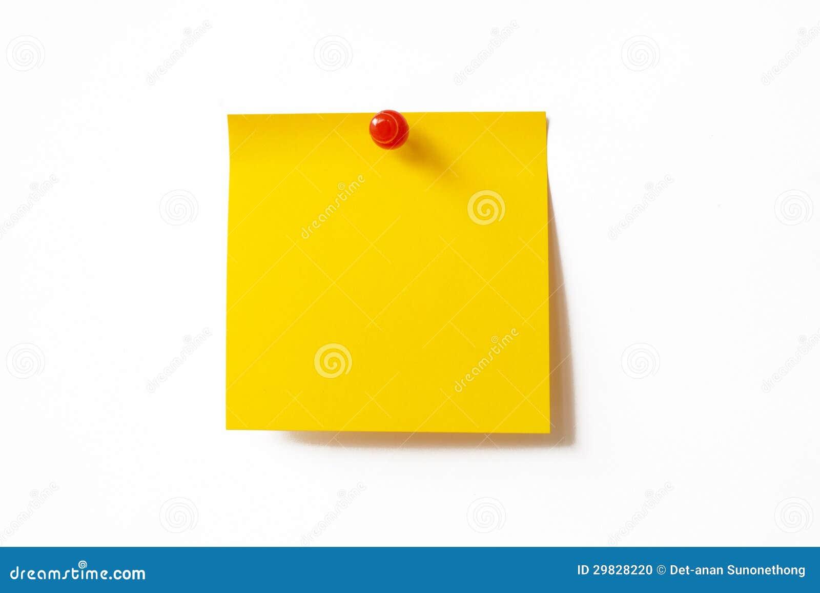 Nota pegajosa amarela