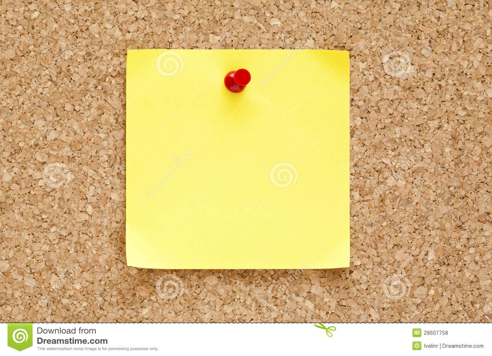 Nota pegajosa amarilla en blanco