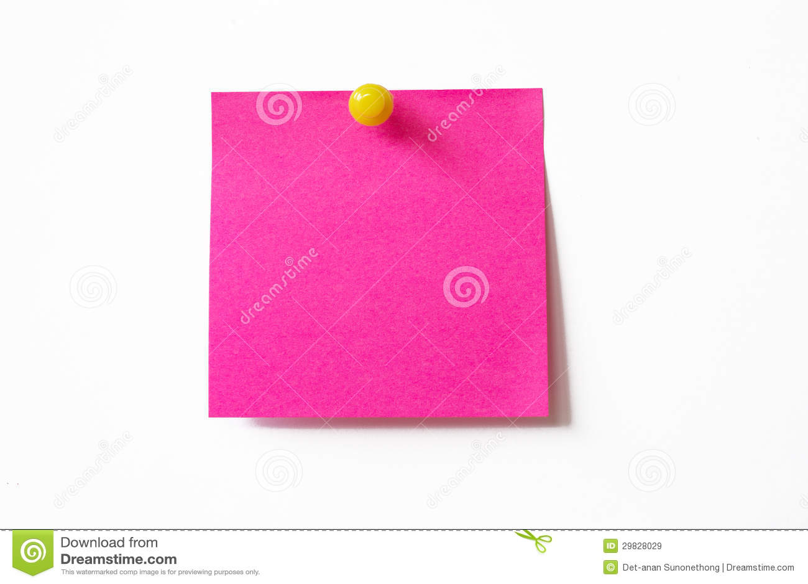 Nota pegajosa cor-de-rosa