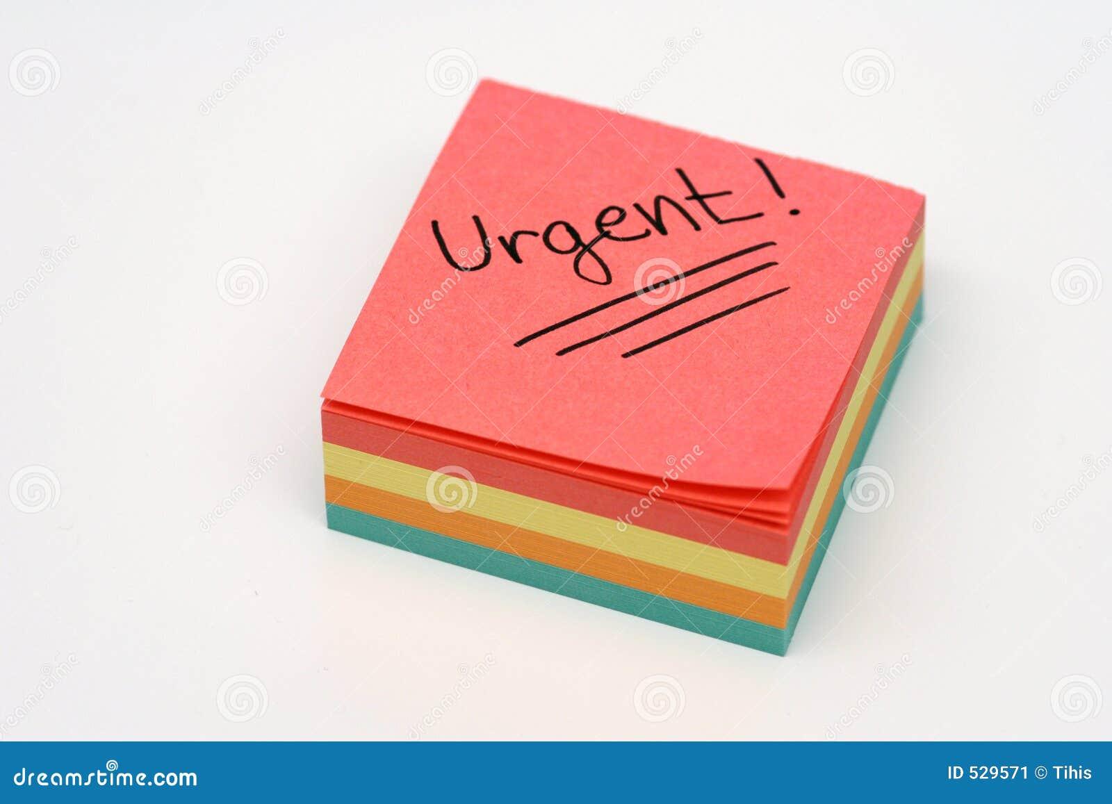 Nota urgente