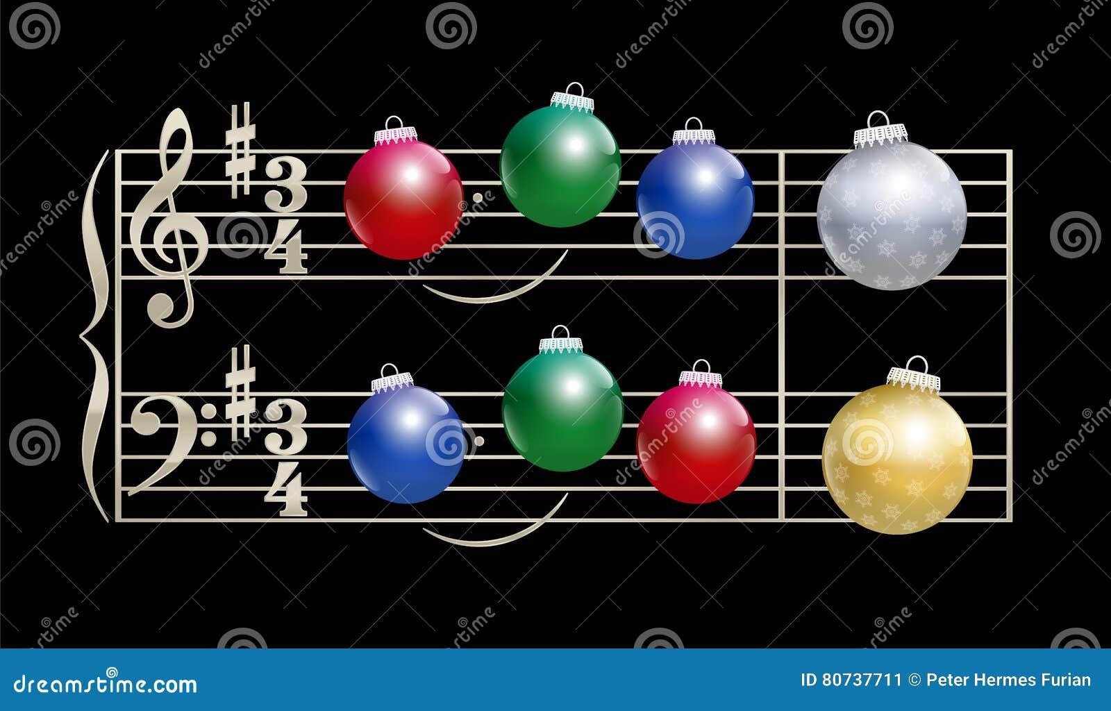 Notación musical de la canción de la Navidad de las chucherías