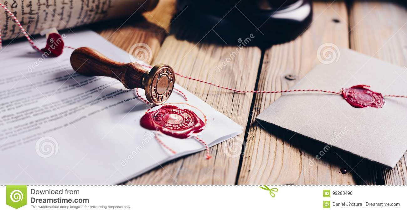 Notary Public Wax Stamper Stock Photo Image Of Will 99288496