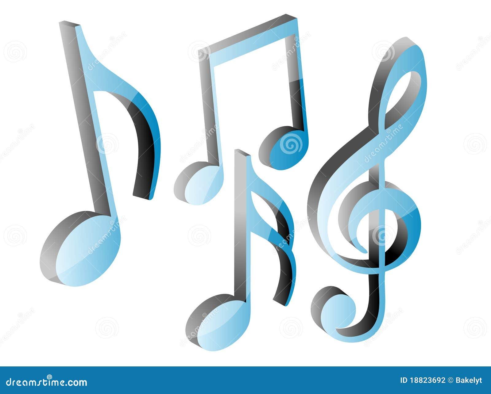 3d Music Note Png 3d M...