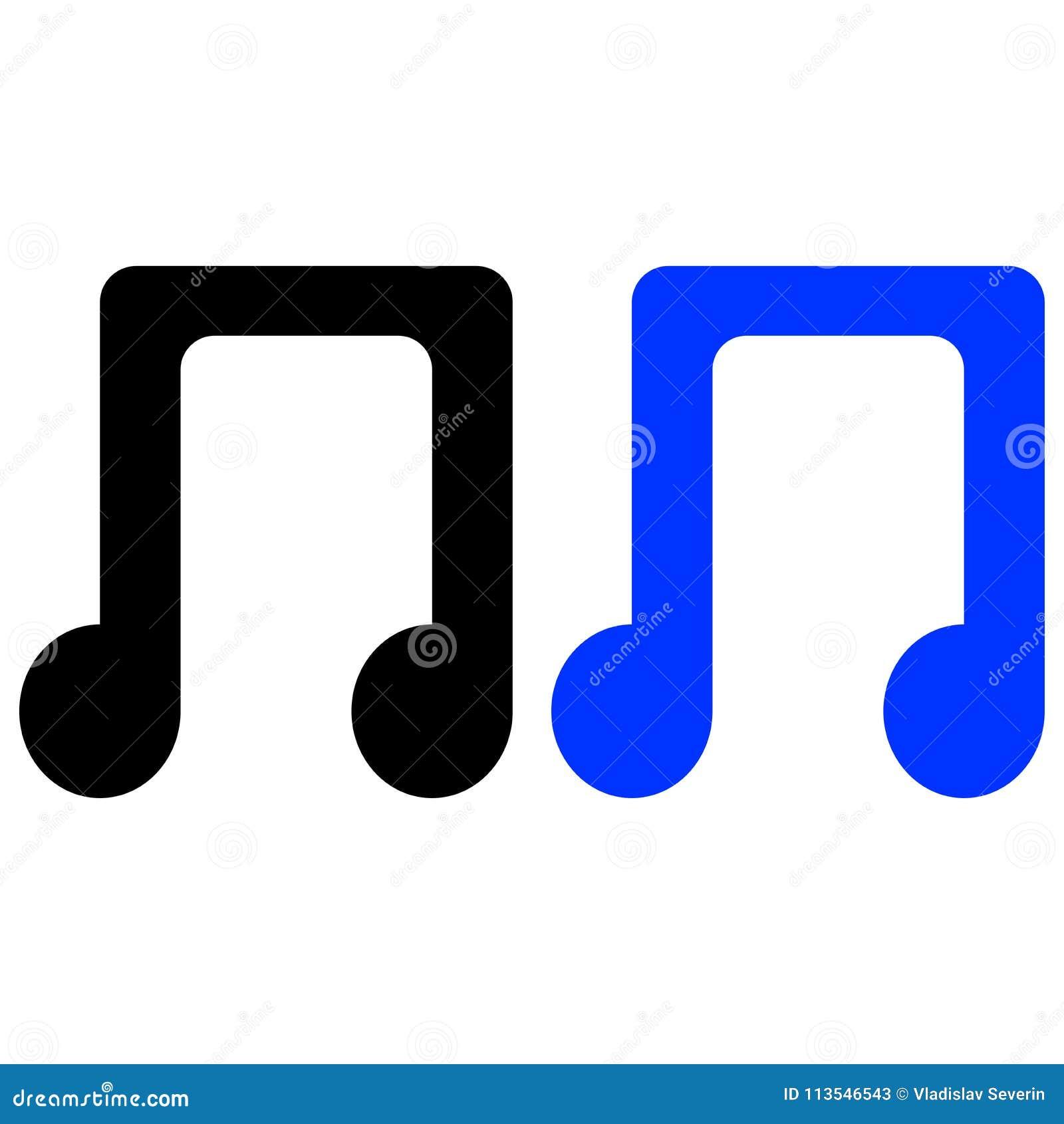 Notas, canción, melodía o tono de la música plano