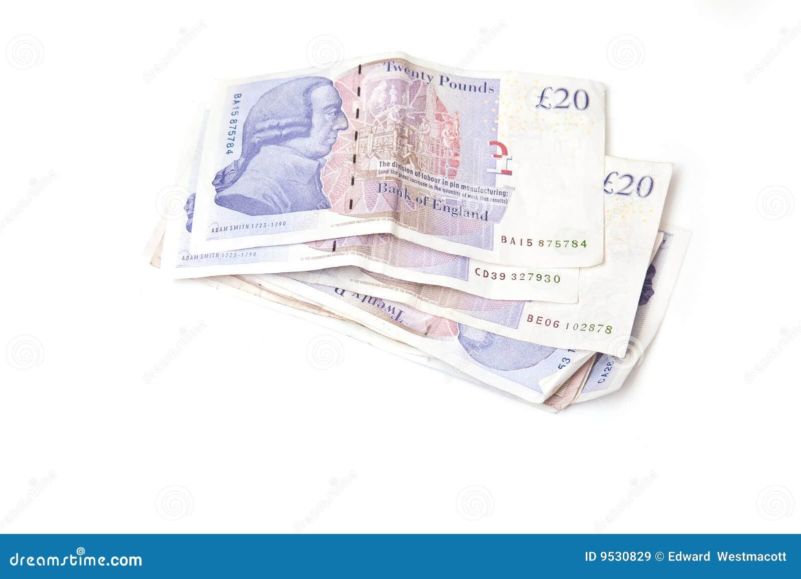 Notas de 20 libras